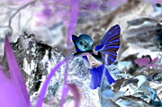 Inverted Color Prints - Fairy in the Woods Surreal Print by Linda Rae Cuthbertson