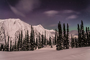 Moonscape Prints - Fairy Meadows Northern Lights Print by Ian Stotesbury