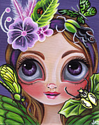Quirky Painting Framed Prints - Fairy of the Insects Framed Print by Jaz Higgins
