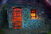 Window Bars Prints - Fairy tale cabin Print by Gunter Nezhoda