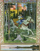 Slavic Painting Posters - Fairy-tale Illustration  Poster by Pg Reproductions