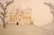 House Pastels - Fairyland Chateau by Christine Corretti