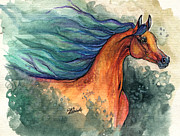 Sparkle Drawings Posters - Fairytale Bay Arabian Horse 28 10 2013 Poster by Angel  Tarantella
