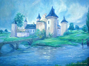 Knights Castle Painting Framed Prints - Fairytale Castle Where Dreams Come True Framed Print by Glenna McRae