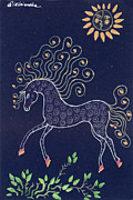 Pony Drawings - Fairytale Horse by Angel  Tarantella