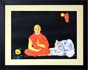 Ahimsa Paintings - Faith - Why Fear by Aman Art