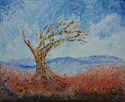 Pallet Knife Prints - Faith #4 Print by William Killen