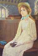 Sermon Painting Prints - Faith Print by Arthur Hughes