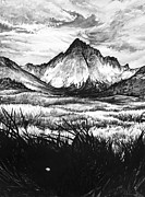 Landscapes Drawings Metal Prints - Faith as a Mustard Seed Metal Print by Aaron Spong