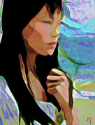 Girl Digital Art Originals - Faith by Byron Fli Walker