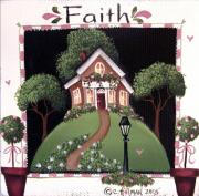 Religious Art Painting Posters - Faith Poster by Catherine Holman