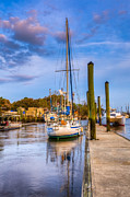 Park Dock Prints - Faith Hope and Charity Print by Debra and Dave Vanderlaan