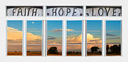 Home Walls Art Prints - Faith  Hope Love Nature Window View Print by James Bo Insogna