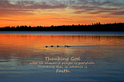 Thanking Metal Prints - Faith in God Metal Print by Barbara West