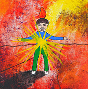Child Jesus Paintings - Faith Like a Child by Dayna  Lopez