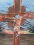 Sacrifice Mixed Media Metal Prints - Faith Metal Print by Melanie Spencer