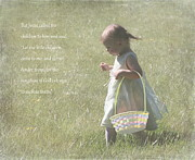 Bible Photo Posters - Faith of a Child Poster by Angie Vogel