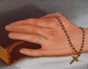 Catholic Art Painting Originals - Faith by Viktoria K Majestic