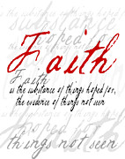 Seen Posters - Faith word Art Poster by Patricia Awapara