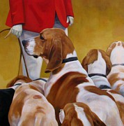 Foxhound Prints - Faithful Hound Print by Janet  Crawford