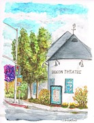 Theatre Painting Originals - Falcon Theatre in Toluca Lake - California by Carlos G Groppa