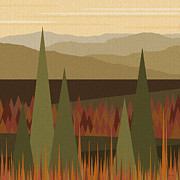 Serenity Landscapes Prints - Fall Afternoon Print by Val Arie
