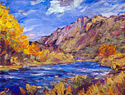 Grande Paintings - Fall Along the Rio Grande by Steven Boone