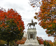 Confederate Monument Prints - Fall and The General and The Fan Print by Robby Batte
