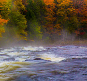 Buttermilk Falls Prints - Fall at Buttermilk  Print by Lori Diemer