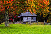 Fall At Hensley Settlement Print by Anthony Heflin