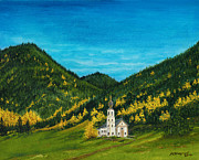Dirt Road Paintings - Fall at St. Magdalena by Michael Shegrud