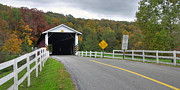 Fall At The Jacksons Mill Covered Bridge Print by Dan Myers