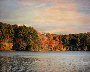 Autumn Landscape Framed Prints - Fall at the Lake I Framed Print by Jai Johnson
