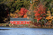 Sudbury Ma Photo Prints - Fall at the Mill Print by Jayne Carney