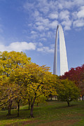 Jefferson National Expansion Memorial Posters - Fall at the St Louis Arch Poster by Garry McMichael