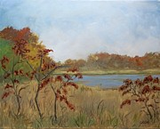 Dundas Paintings - Fall At The West Pond by Fred Urron