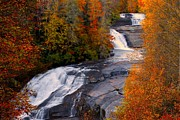 Hunger Prints - Fall at Triple Falls Print by Carol R Montoya