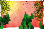 Fall Autumn Four Seasons Art Series Print by Christina Rollo