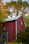 Wisconsin Barn Posters - Fall Barn Poster by Jeff Klingler