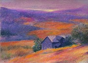 Rural Living Originals - Fall barn pastel landscape by Judith Cheng