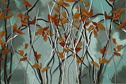 Digital Tablet Prints - Fall Branches Print by Nancy Long