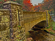 Fall Bridge Print by Larry Bishop