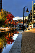 Richmond Virginia Prints - Fall Colors Along the Canal Print by Tim Wilson
