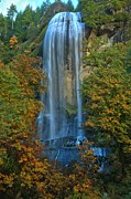 Unique Waterfalls Framed Prints - Fall Colors At Silver Falls Framed Print by Adam Jewell