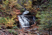 Mohican Prints - Fall Colors From Below Mohican Falls Print by Gene Walls