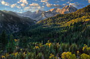 High Altitude Prints - Fall Colors on Mt. Timpanogos Print by Utah Images