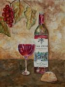 Grape Vineyards Originals - Fall Creek Vineyards by Tamyra Crossley