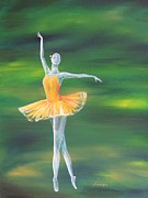 Ballet Paintings - Fall Dancer 3 by Laurianna Taylor