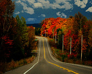 Scenic Drive Prints - Fall Drive Print by Cheryl Young