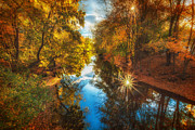 Concord Art - Fall filtered reflections by Sylvia J Zarco